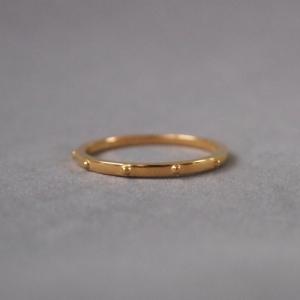"""""""Un-Deux-Trois"""" Classic Thin - Ring - Gold"""