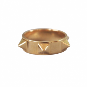 """Cleometra"" Pyramid Rivets Row Big - Ring - Gold"