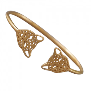 """Panthera"" Head - Bangle - Gold"