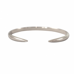 """Smilodon"" Thorn - Bangle - Silver"