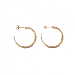 """Smilodon"" Thorn Creole - Stud Earring - Gold"