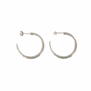 """Smilodon"" Thorn Creole - Stud Earring - Silver"