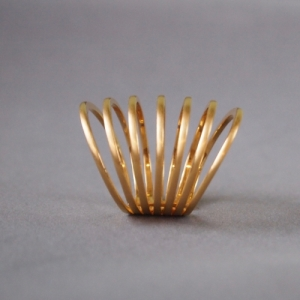 """Curvaceous"" Classic 7 - Ring - Gold"