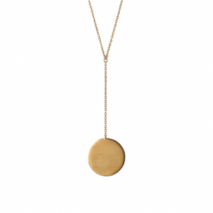 """Paillette"" Coin - Y-Necklace - Gold"