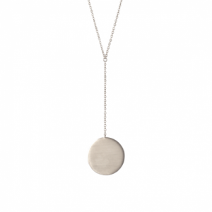 """Paillette"" Coin - Y-Necklace - Silver"
