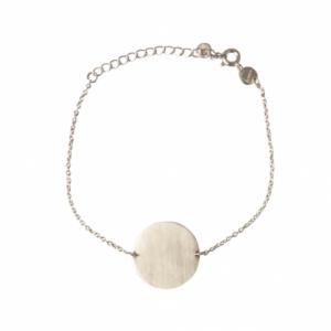 """""""Paillette"""" Coin - Bracelet - Silver"""