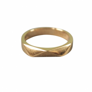 """Trinity"" Origami - Ring - Gold"