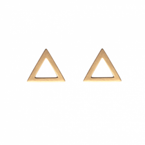 """Trinity"" Triangle Big - Stud Earring - Gold"