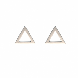 """Trinity"" Triangle Big - Stud Earring - Silver"
