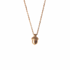 """Garden Eden"" Acorn - Necklace - Gold"