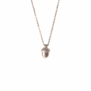 """Garden Eden"" Acorn - Necklace - Silver"
