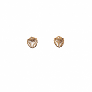 """Hummingbird Shell"" Classic Small - Stud Earring - Gold"
