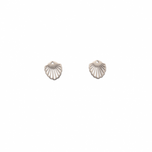"""Hummingbird Shell"" Classic Small - Stud Earring - Silver"