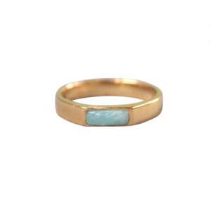 """Stripes & Joist"" Amazonite - Ring - Gold"