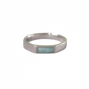 """Stripes & Joist"" Amazonite - Ring - Silver"