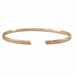 """Stripes & Joist"" Bar - Bangle - Gold"