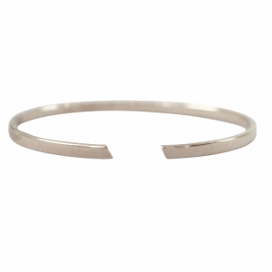 """Stripes & Joist"" Bar - Bangle - Silver"