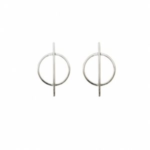 """Atmos"" Dual Mikro - Stud Earring - Silver"