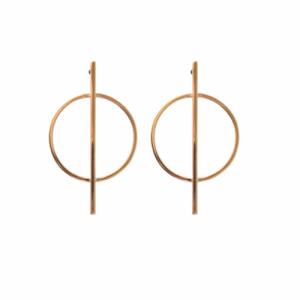 """Atmos"" Dual Makro - Stud Earring - Gold"