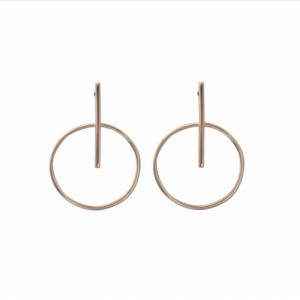"""""""Atmos"""" Trans Makro - Stud Earring - Silver"""