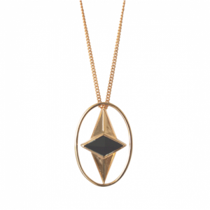 """Oneiro"" Alliance Onyx - Necklace - Gold"