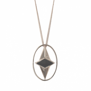 """Oneiro"" Alliance Onyx - Necklace - Silver"