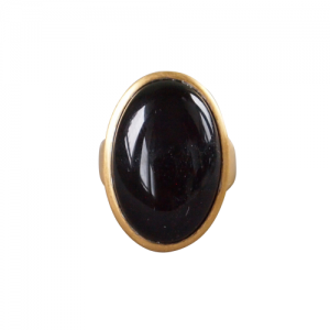 """Oneiro"" Black Onyx - Ring - Gold"
