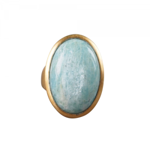 """Oneiro"" Amazonite - Ring - Gold"