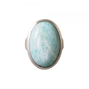 """Oneiro"" Amazonite - Ring - Silver"
