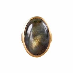 """""""Oneiro"""" Labradorite - Ring - Gold"""