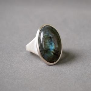 """""""Oneiro"""" Labradorite - Ring - Silver"""