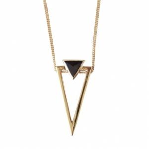 """""""Suspirium"""" Black Onyx Big - Necklace - Gold"""