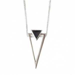 """""""Suspirium"""" Black Onyx Big - Necklace - Silver"""