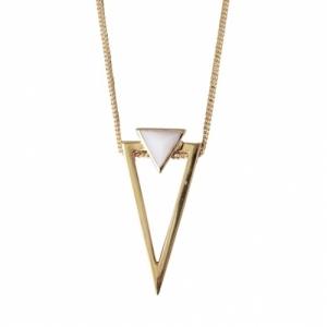 """Suspirium"" Pink Opal Big - Necklace - Gold"