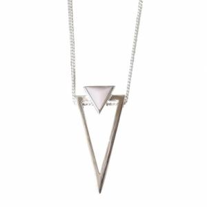 """""""Suspirium"""" Pink Opal Big - Necklace - Silver"""