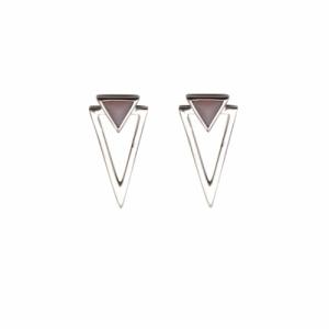 """""""Suspirium"""" Pink Opal - Stud Earring - Silver"""