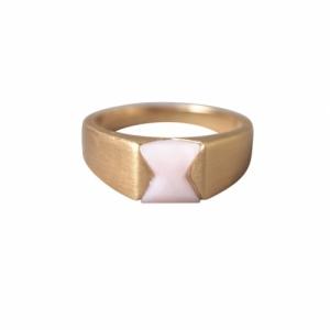 """""""Suspirium"""" Pink Opal - Ring - Gold"""