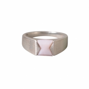 """Suspirium"" Pink Opal - Ring - Silver"