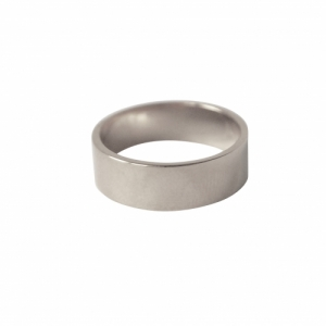 """Stripes & Joist"" Bar 6 - Ring - Silver"