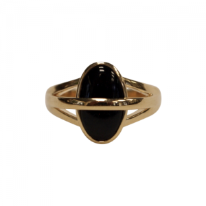 """Oneiro"" Black Onyx Unite - Ring - 18 Karat Gold"