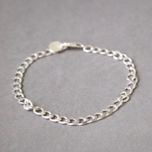 """Curb"" Fellow - Bracelet - Silver"