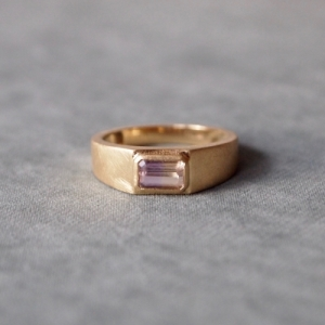 """Baguette"" Tourmaline - Ring - 18 Karat Gold"
