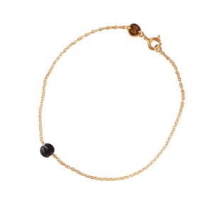 """""""Panthera"""" Notch Onyx - Bracelet - Gold"""