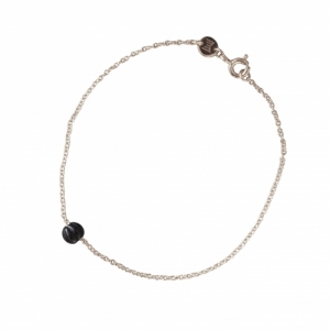 """Panthera"" Notch Onyx - Bracelet - Silver"