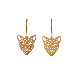 """Panthera"" Big Head - Earring - Gold"