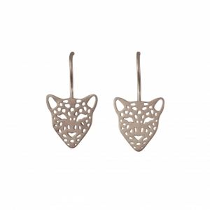 """Panthera"" Big Head - Earring - Silver"