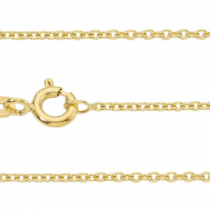 """Single Basic Chains"" Rundanker filigran - 40cm Necklace - Gold"