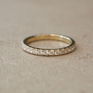 """Stripes & Joist"" Bar Infinity (1.8) Diamond White - Ring - 18 Karat.."