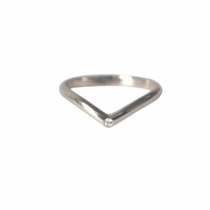 """Solitaire"" Diamond White Classic - Ring - 18 Karat Whitegold"