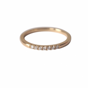 """Stripes & Joist"" Bar Seven Diamond White (1.3) - Ring - 18 Karat Gold"